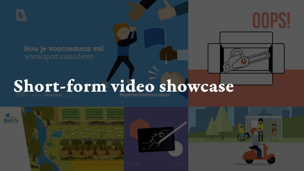 Short-form video showcase