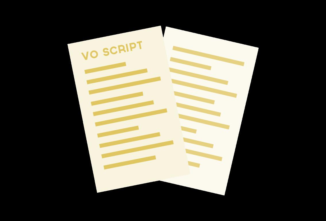 Voice over script illustration